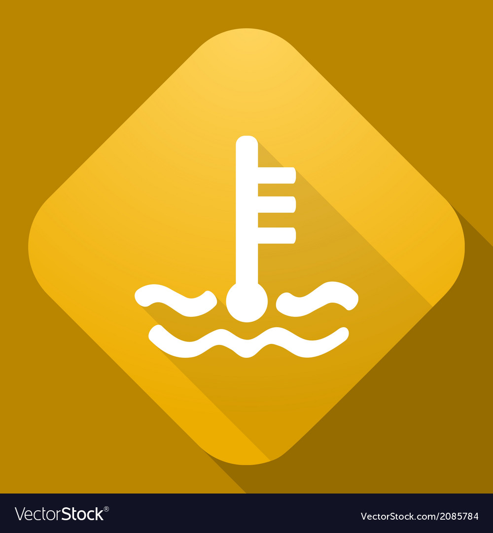 Icon of coolant level sign with a long shad vector | Price: 1 Credit (USD $1)