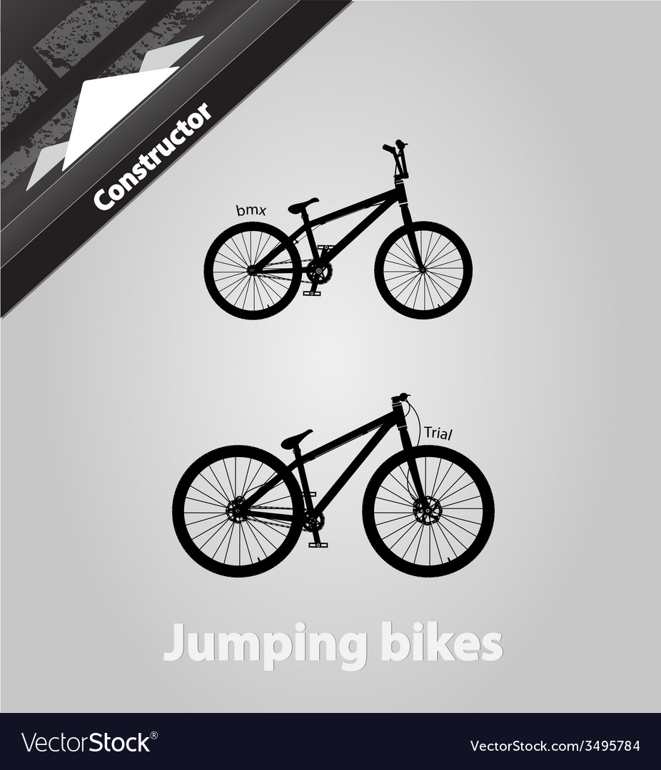 Jumping bikes vector | Price: 1 Credit (USD $1)