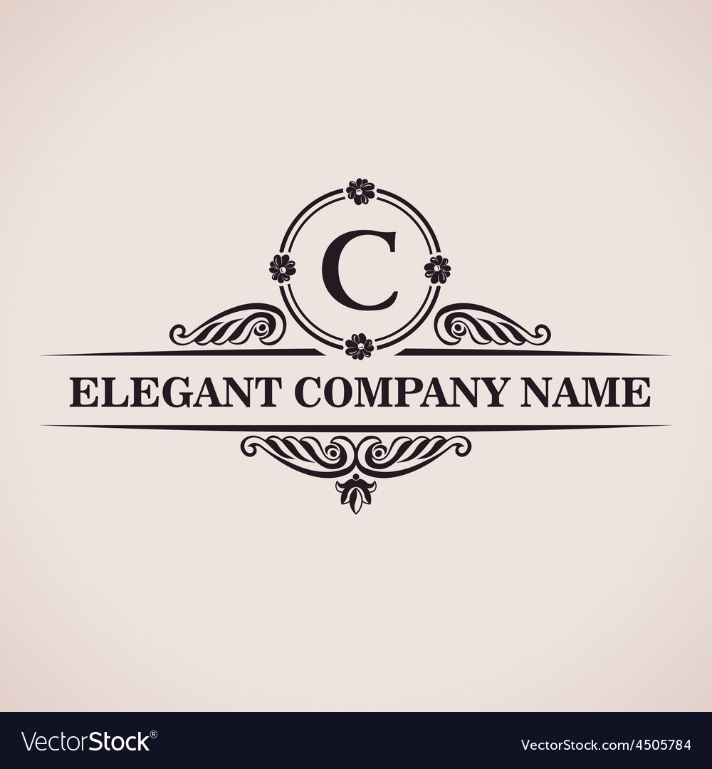 Luxury logo calligraphic pattern elegant decor vector | Price: 1 Credit (USD $1)