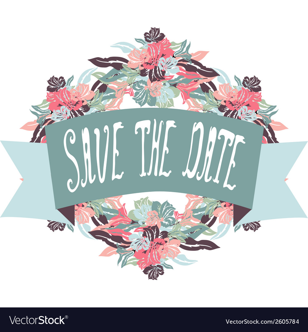 Save the date banner vector | Price: 1 Credit (USD $1)
