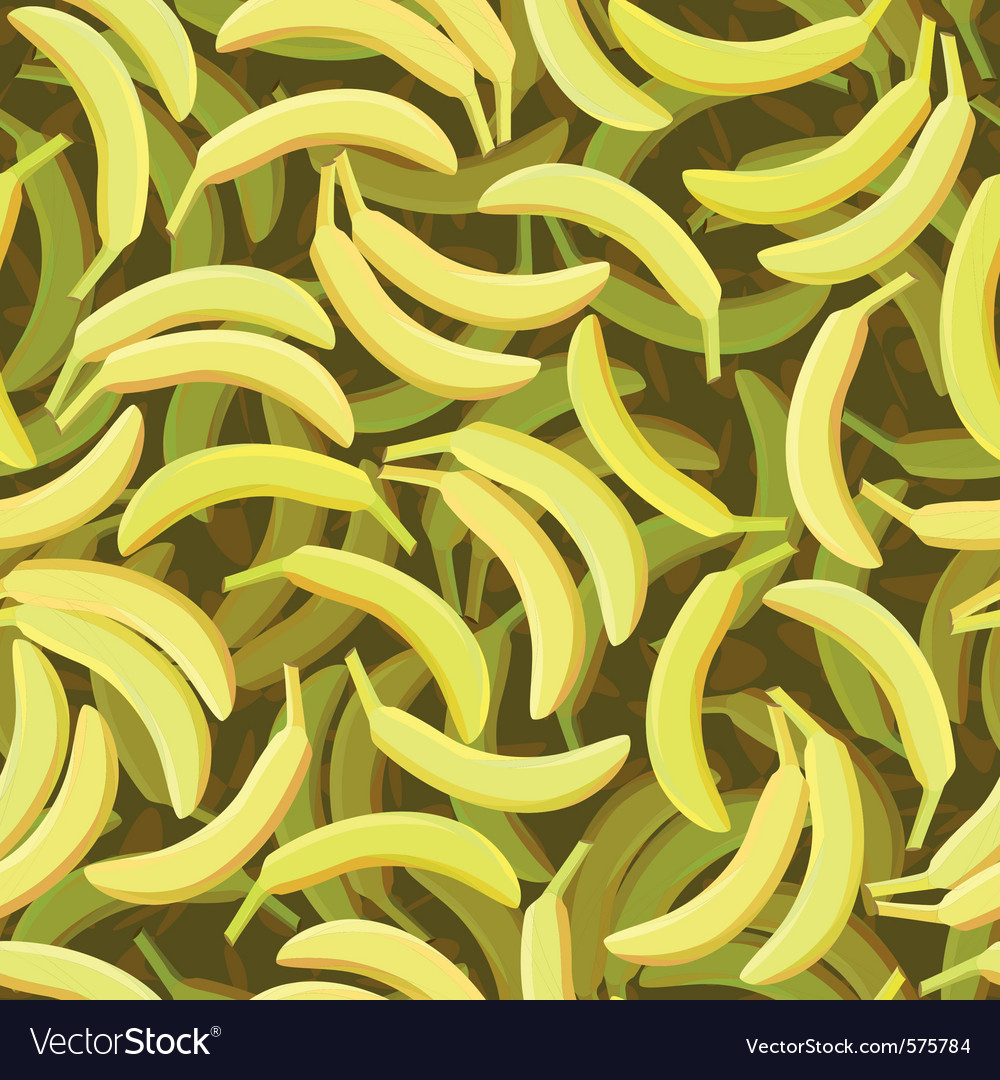 Seamless banana pattern vector | Price: 1 Credit (USD $1)