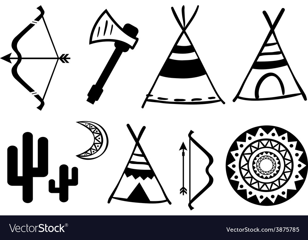 A set of cute hipster arrows hand drawn doodles vector | Price: 1 Credit (USD $1)