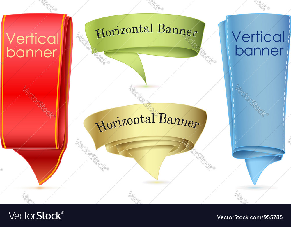 Abstract scroll banner vector | Price: 1 Credit (USD $1)