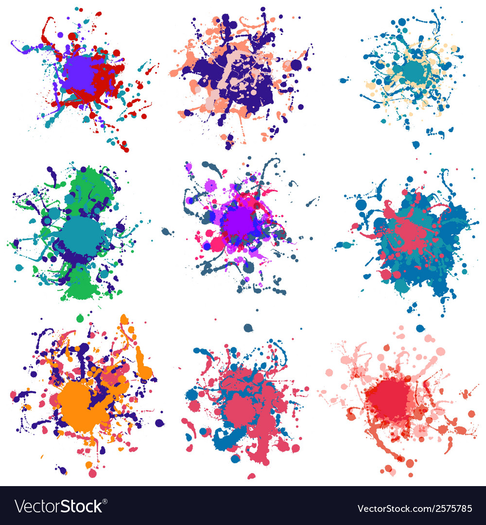 Colorful paint splashes on white plus eps10 vector | Price: 1 Credit (USD $1)