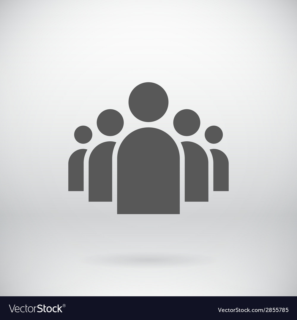 Flat group of people icon symbol background vector | Price: 1 Credit (USD $1)