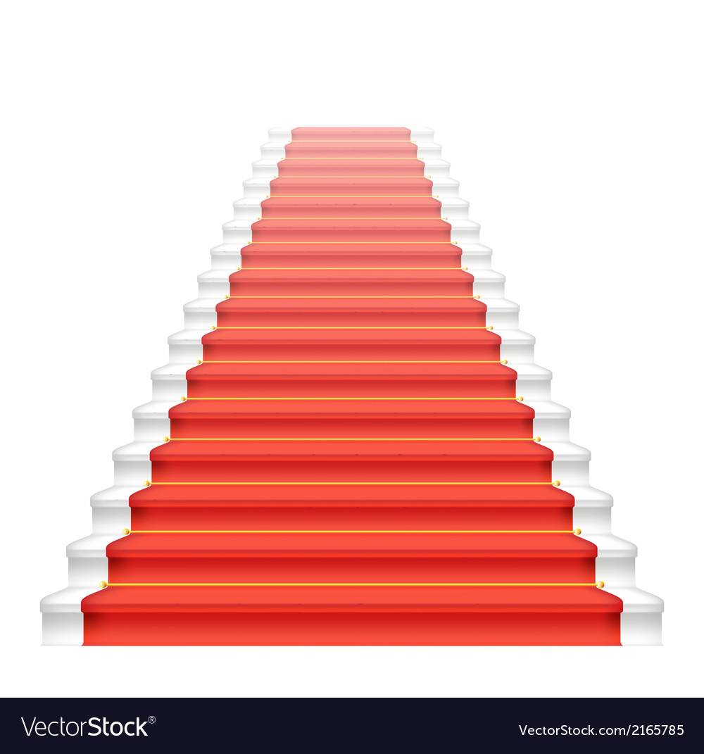 Front staircase and red carpet vector | Price: 1 Credit (USD $1)