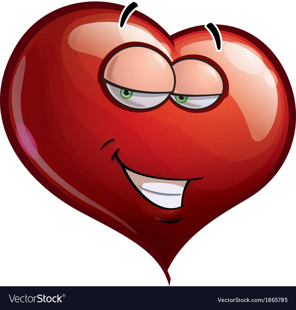 Heart faces hey sweetie vector | Price: 1 Credit (USD $1)