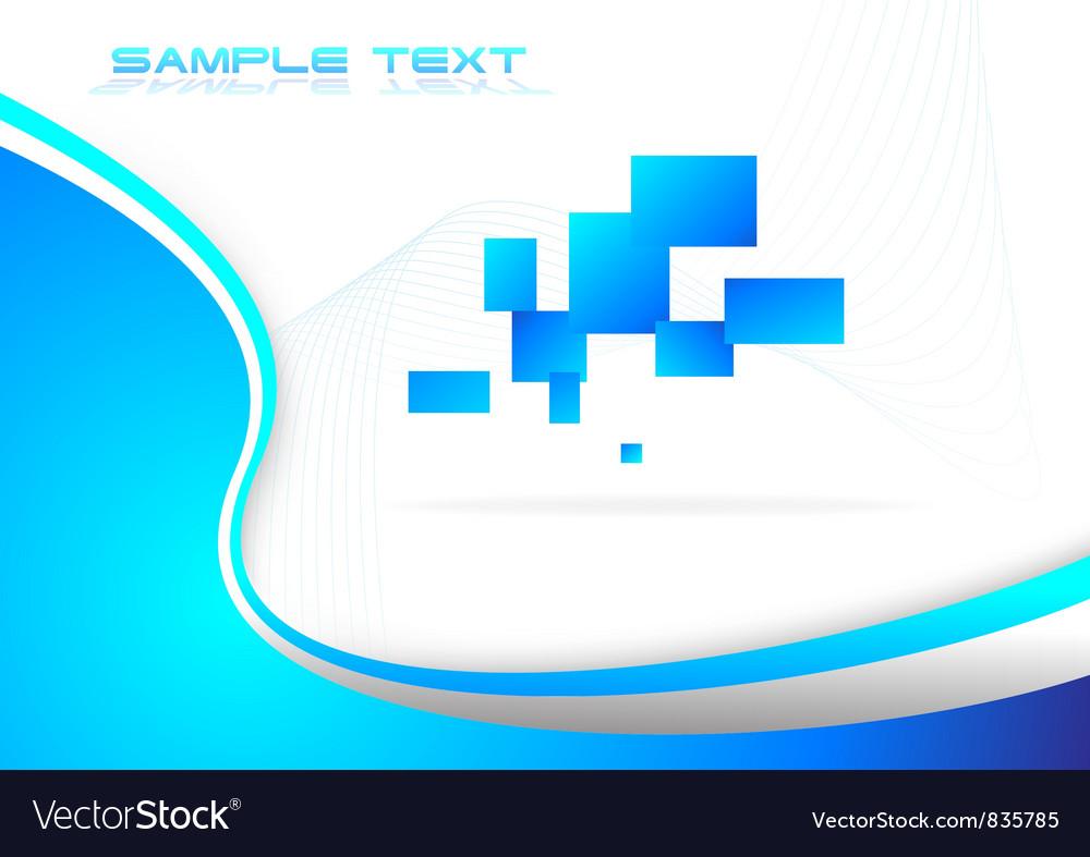 Hi tech blue background vector