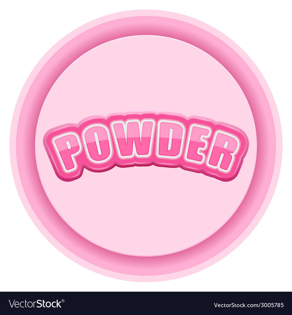 Label for powder bright premium design vector | Price: 1 Credit (USD $1)