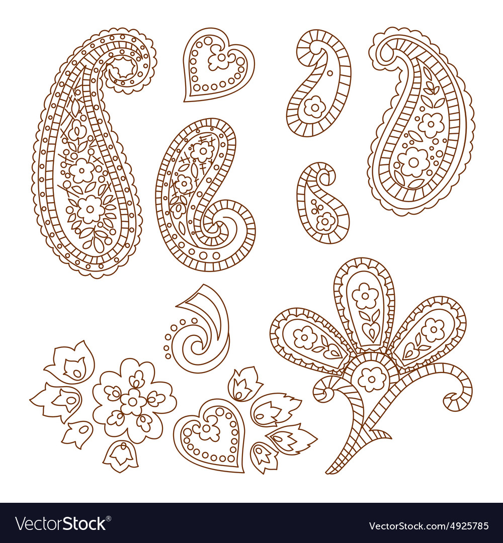 Paisley patterns vector