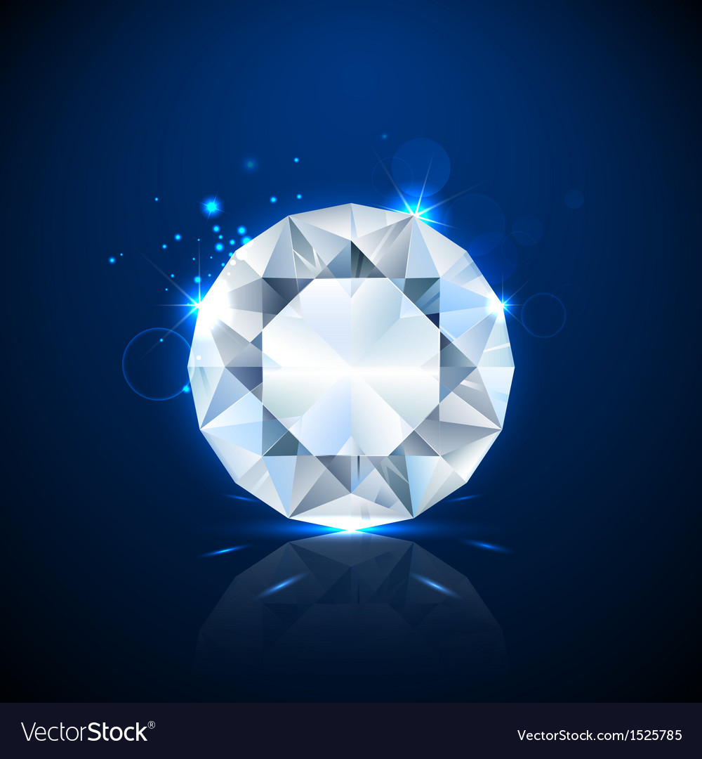 Shiny sparkling diamond vector | Price: 1 Credit (USD $1)