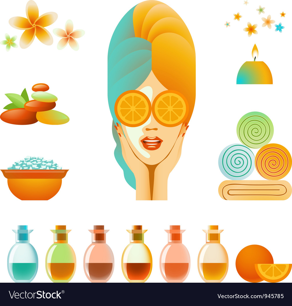 Spa accessory set vector | Price: 1 Credit (USD $1)