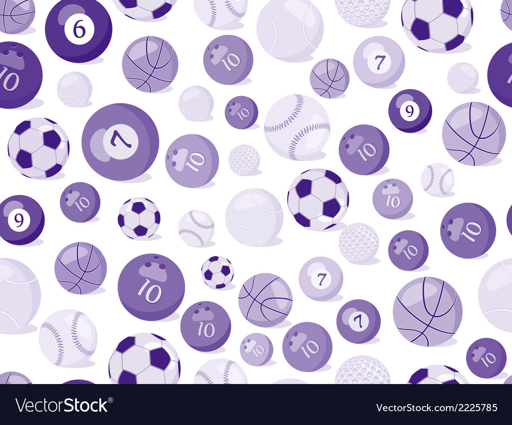 Sport balls seamless pattern vector | Price: 1 Credit (USD $1)