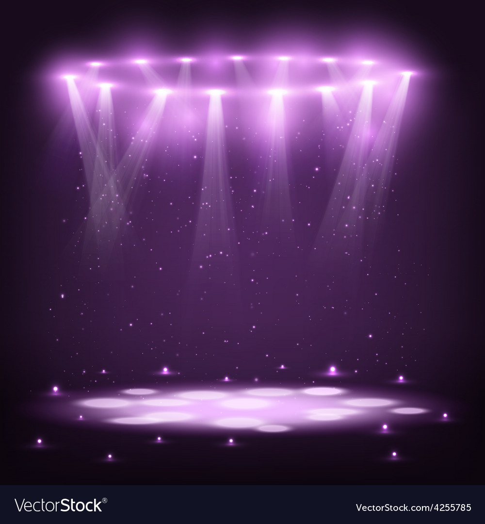 Stage with spotlights and spark rain vector | Price: 3 Credit (USD $3)