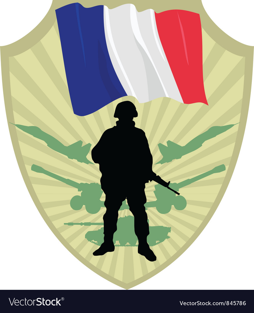 Army of france vector | Price: 1 Credit (USD $1)