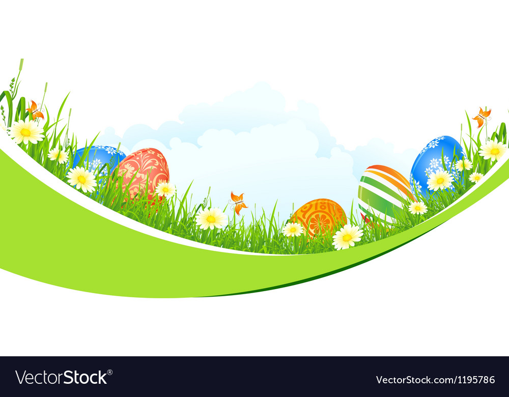 Beautiful easter holiday background vector | Price: 1 Credit (USD $1)