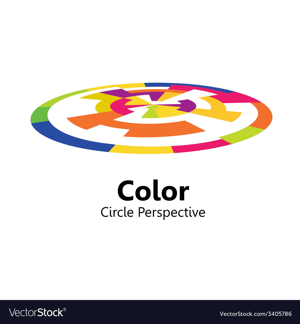 Color circle perspective vector | Price: 1 Credit (USD $1)