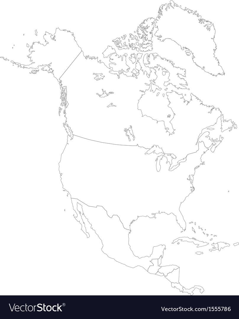 Contour north america vector   Price: 1 Credit (USD $1)