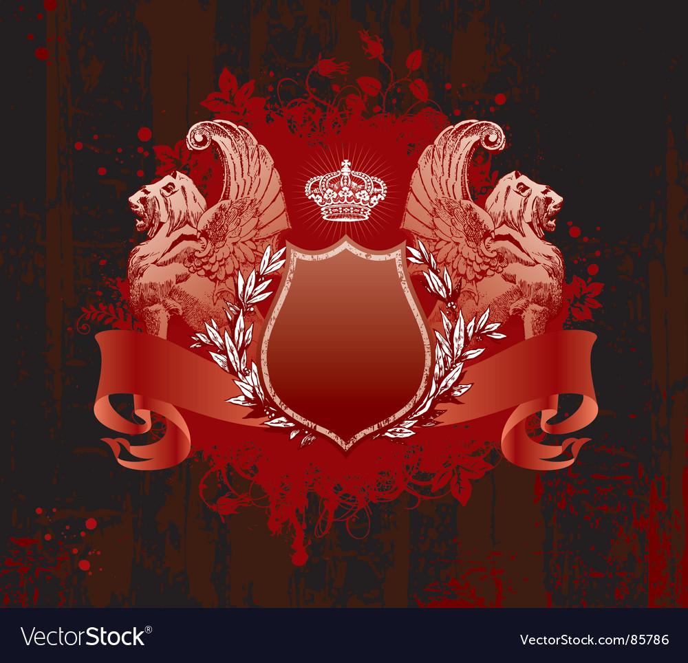 Crown on grunge background vector | Price: 1 Credit (USD $1)