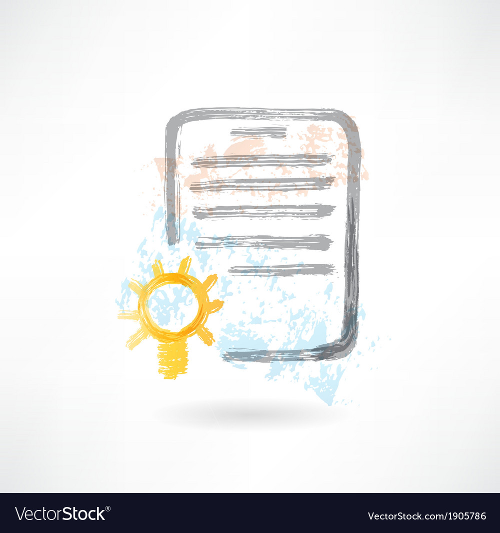 Document with lamp grunge icon vector | Price: 1 Credit (USD $1)