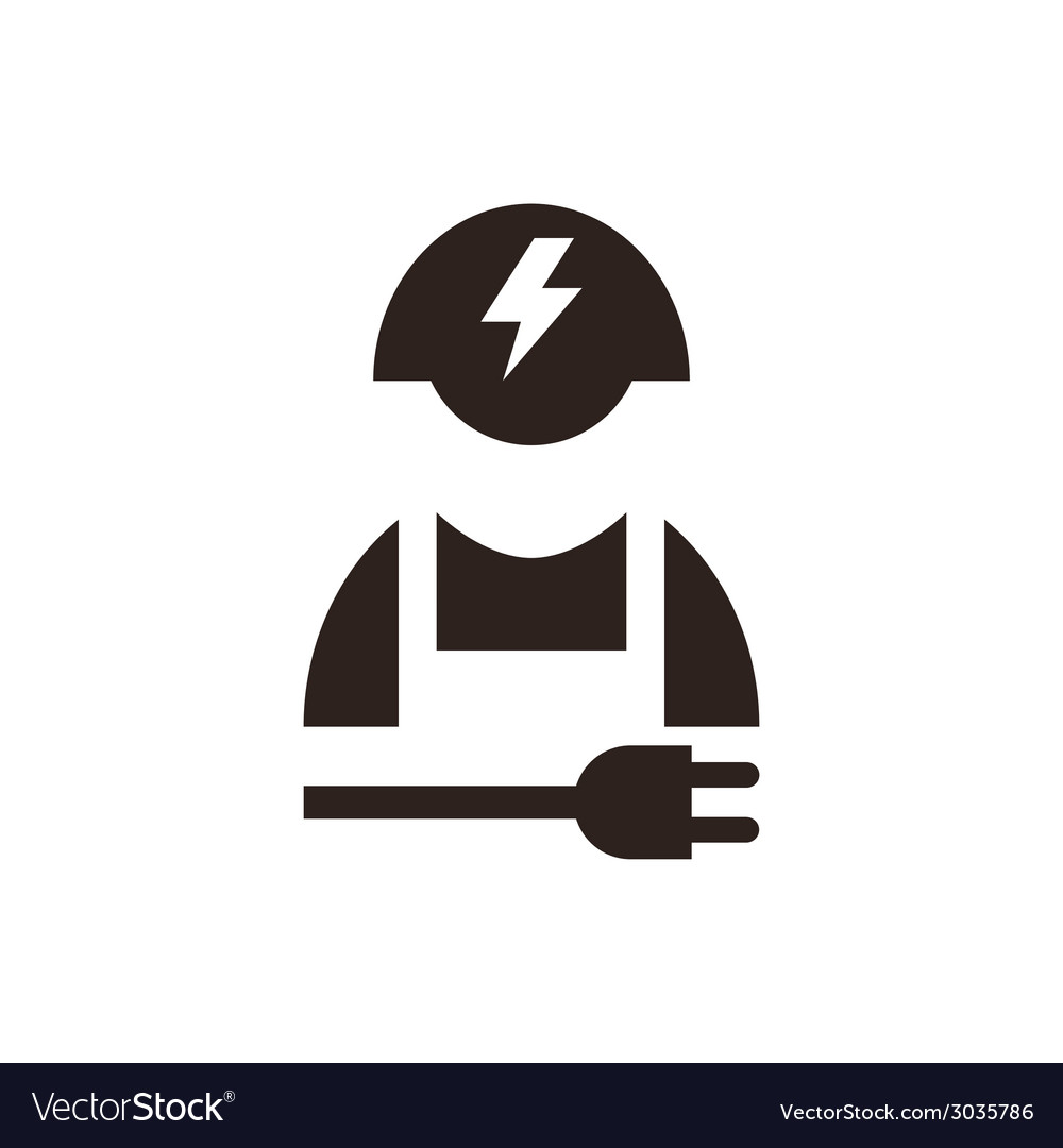 Electrician icon vector | Price: 1 Credit (USD $1)