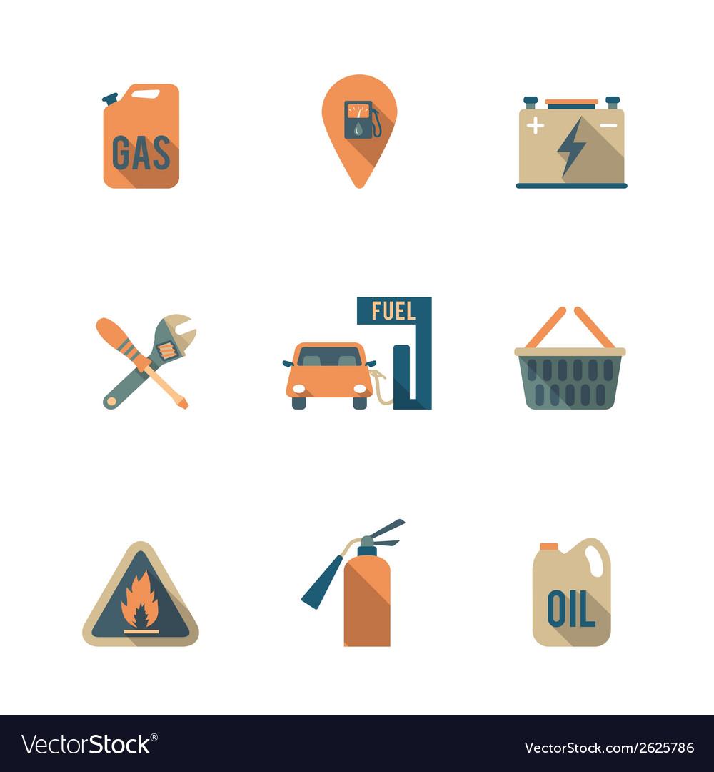 Fuel pump icons set vector | Price: 1 Credit (USD $1)
