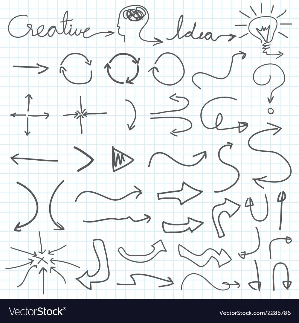 Hand drawn arrow vector | Price: 1 Credit (USD $1)
