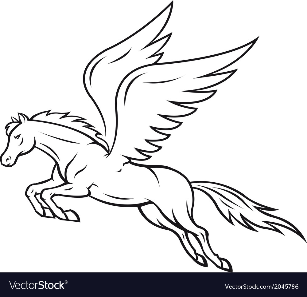 Pegasus horse vector | Price: 1 Credit (USD $1)