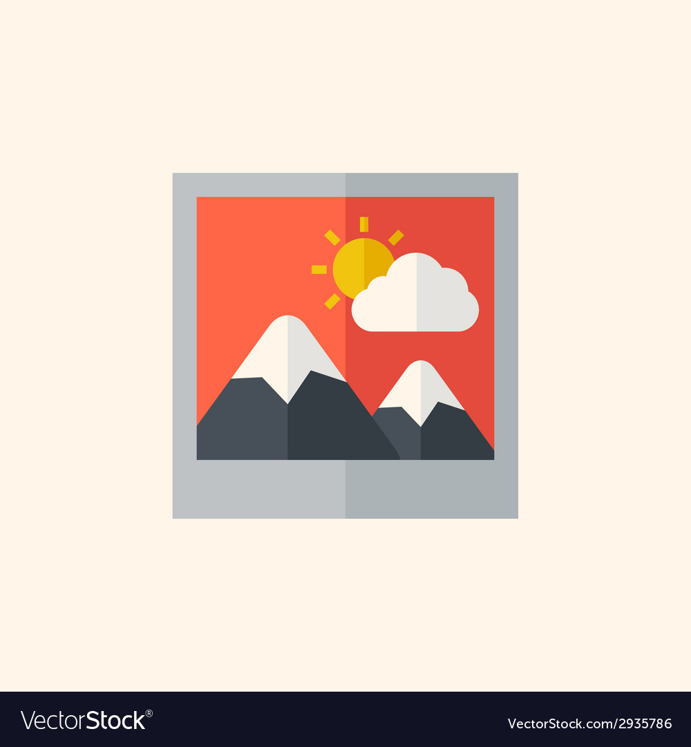 Photo flat icon vector | Price: 1 Credit (USD $1)