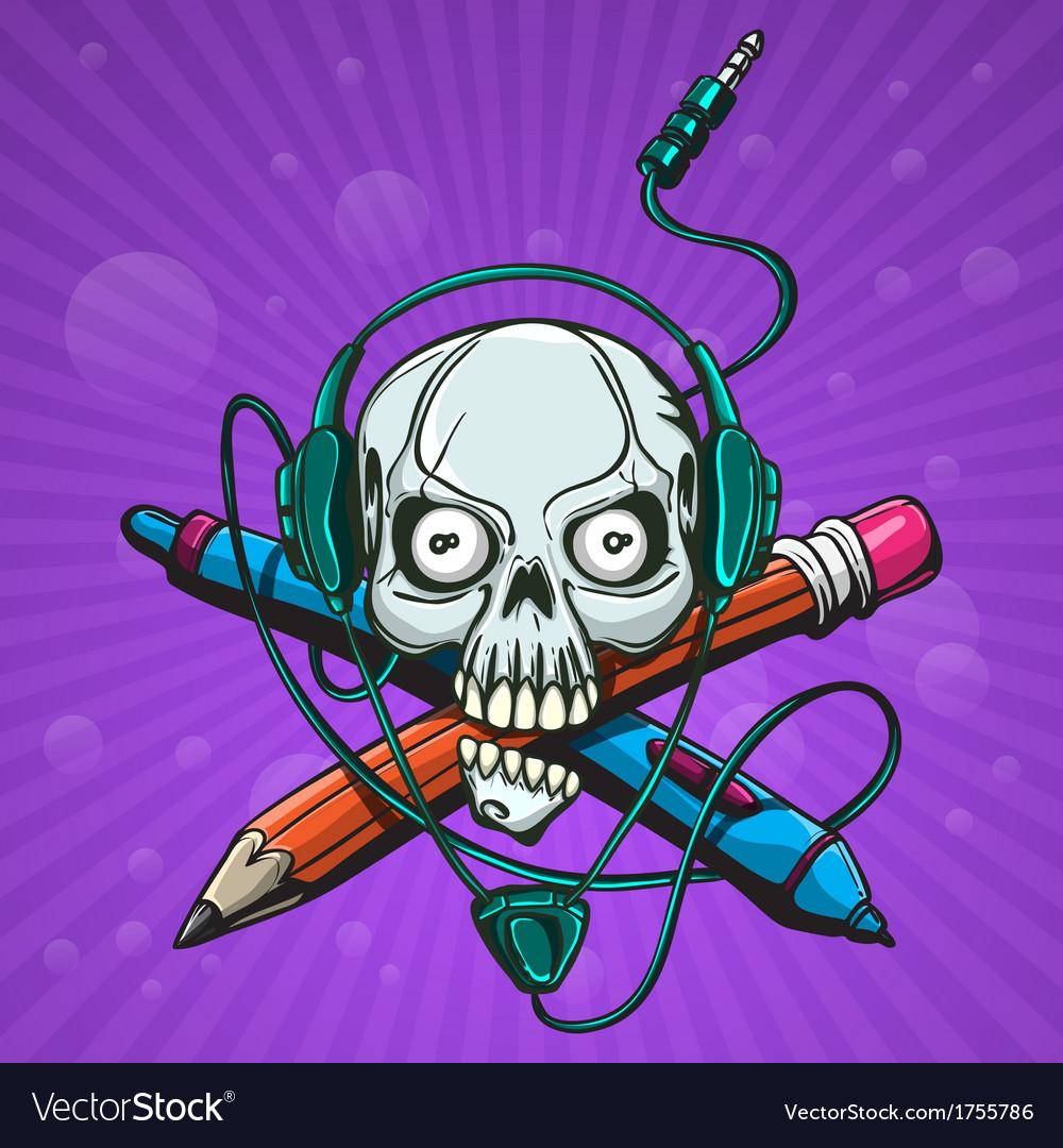 Skull artist vector | Price: 1 Credit (USD $1)