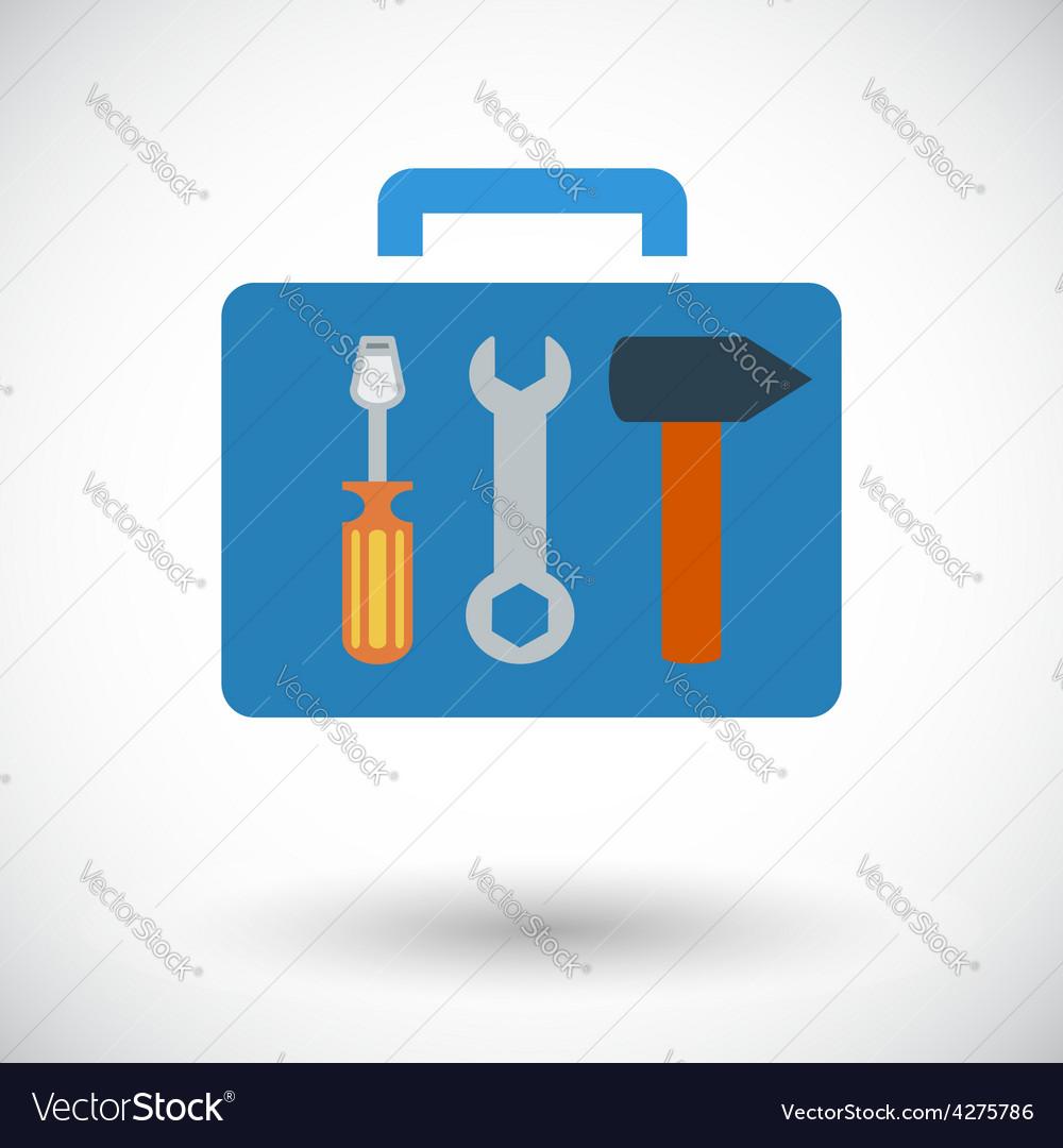 Tool box single icon vector | Price: 1 Credit (USD $1)