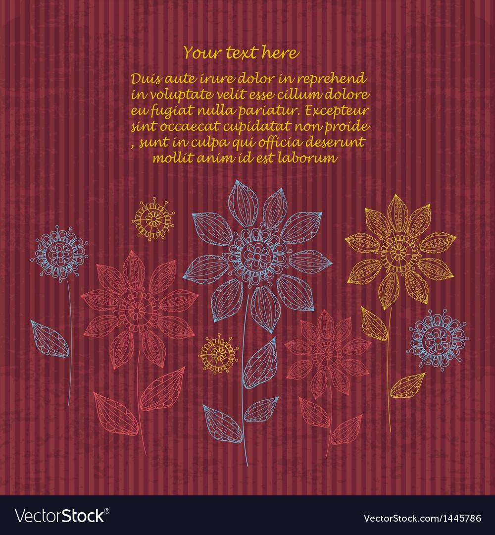 Vintage invitation decoration on grunge background vector | Price: 1 Credit (USD $1)
