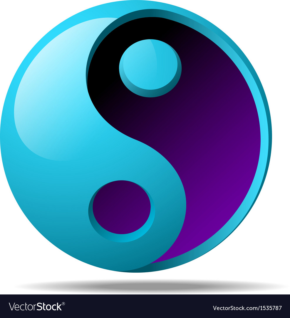 3d ying yang sign vector | Price: 1 Credit (USD $1)