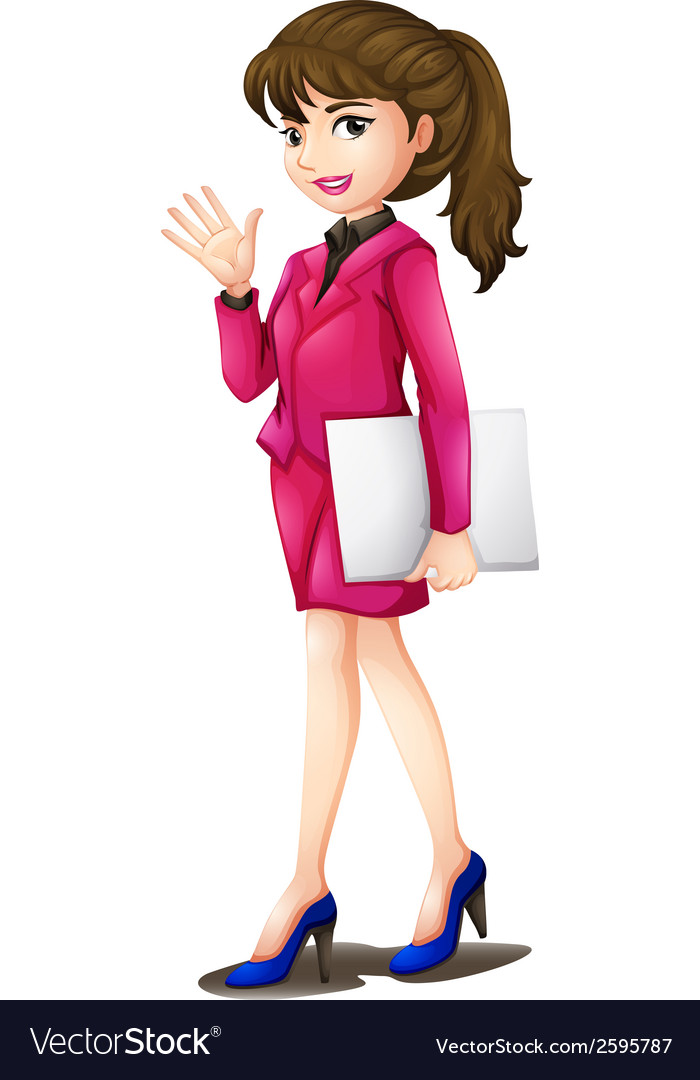 A woman wearing a pink uniform vector | Price: 1 Credit (USD $1)