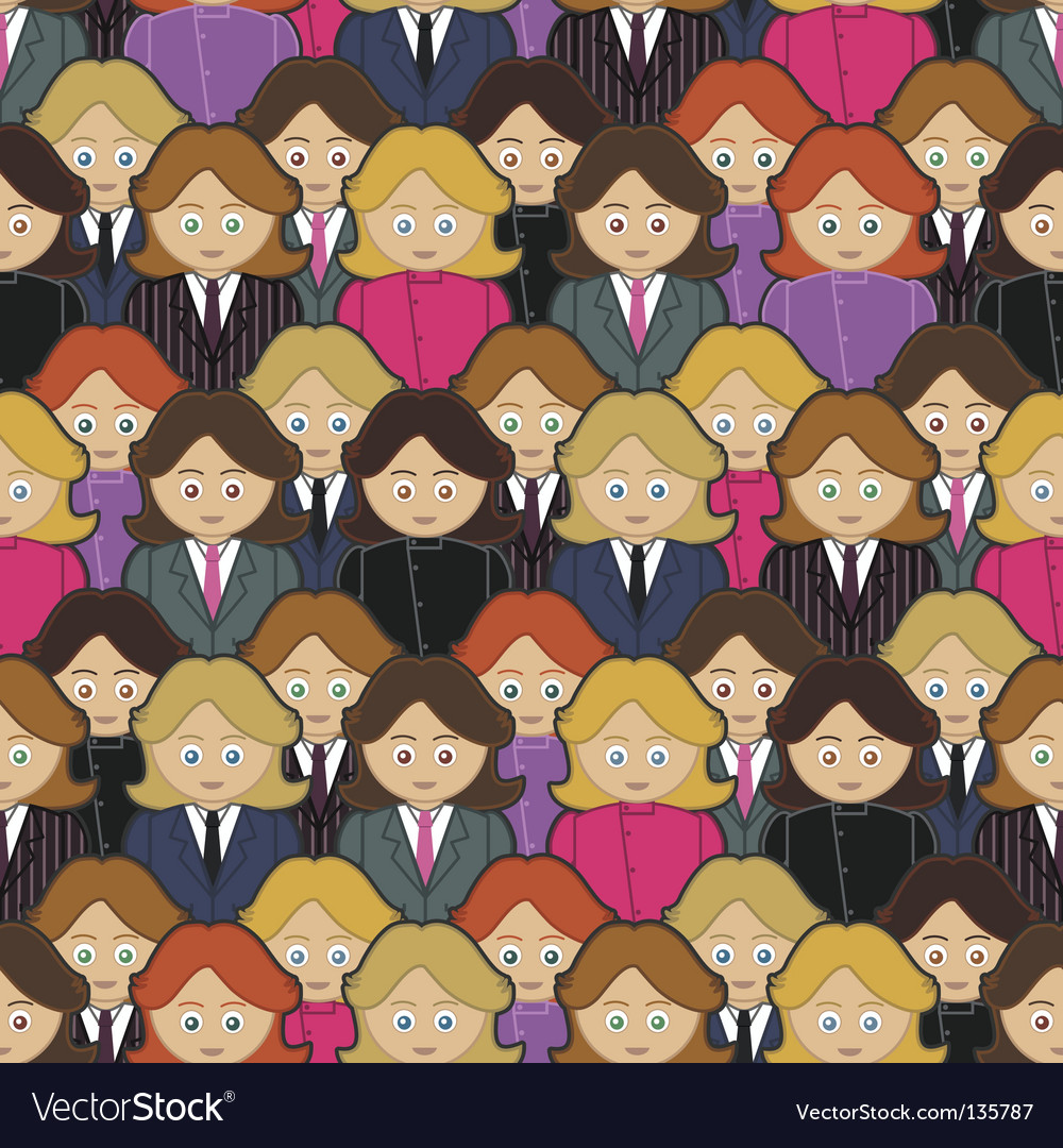 Business women pattern vector | Price: 1 Credit (USD $1)
