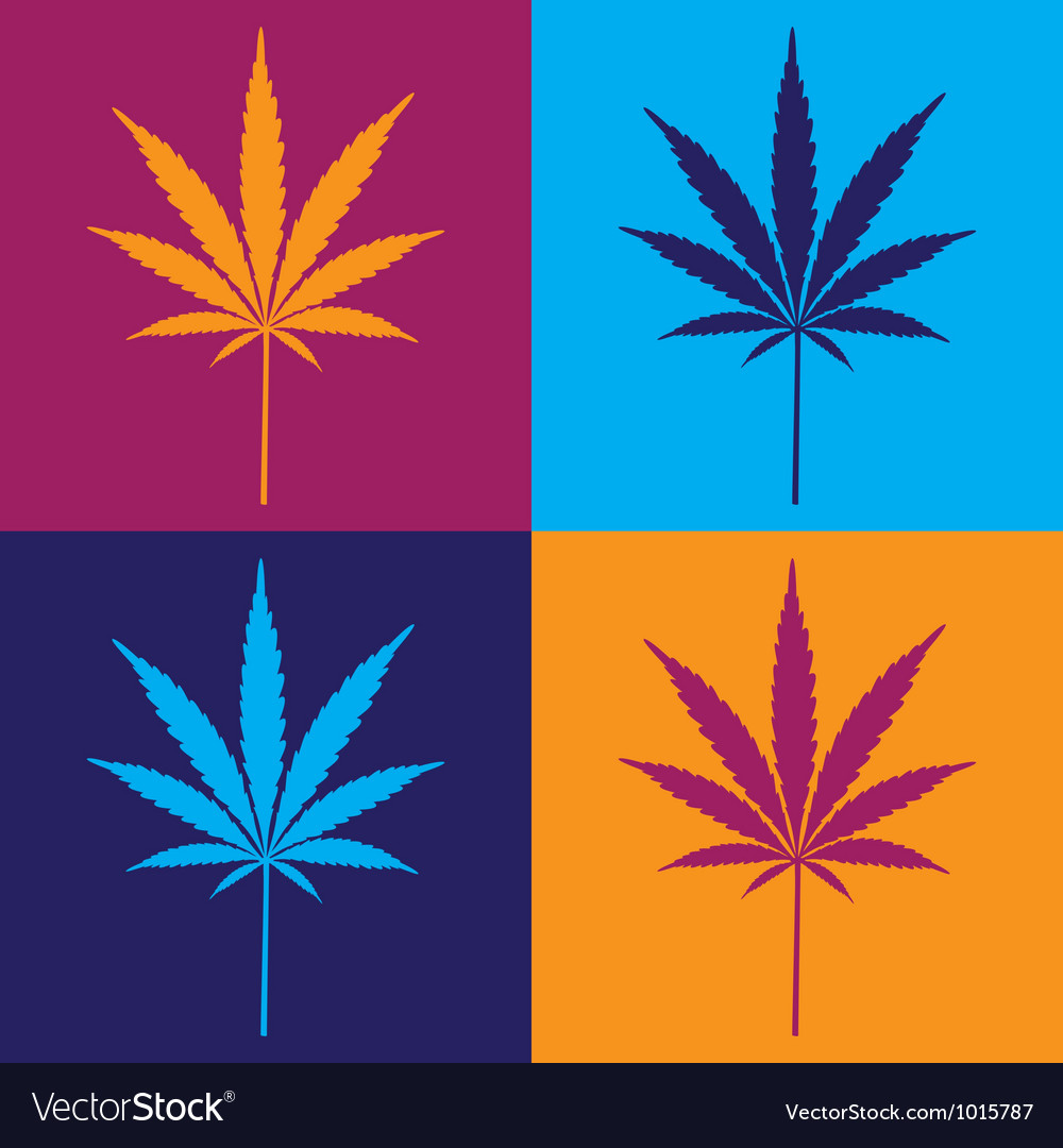 Cannabis leaf popart vector | Price: 1 Credit (USD $1)