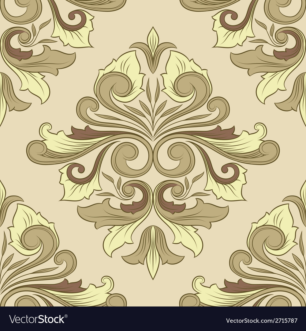 Classic ornament pattern vector | Price: 1 Credit (USD $1)