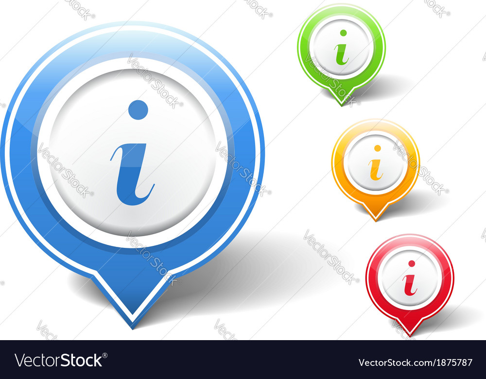 Information icons vector | Price: 1 Credit (USD $1)