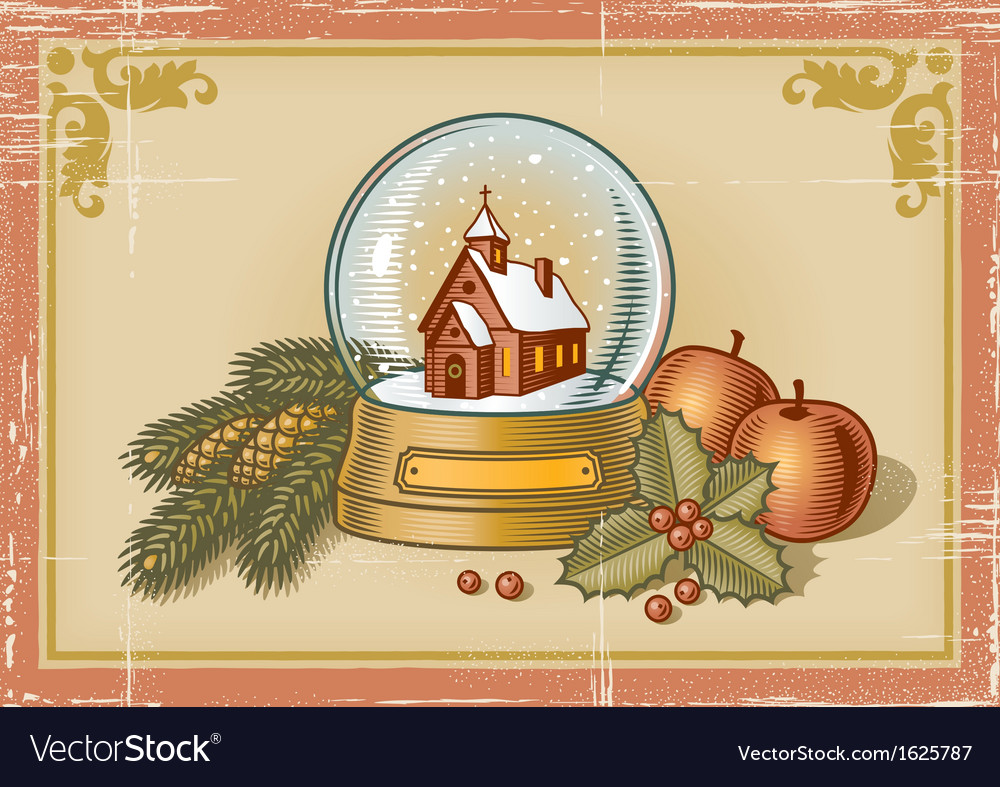 Retro christmas card vector | Price: 3 Credit (USD $3)