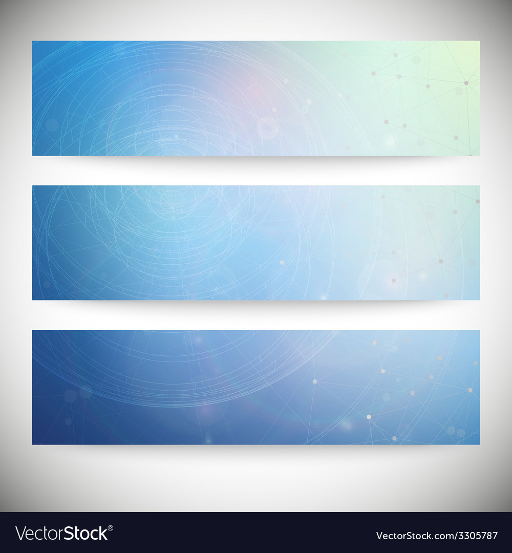 Set of horizontal banners conceptual design vector | Price: 1 Credit (USD $1)