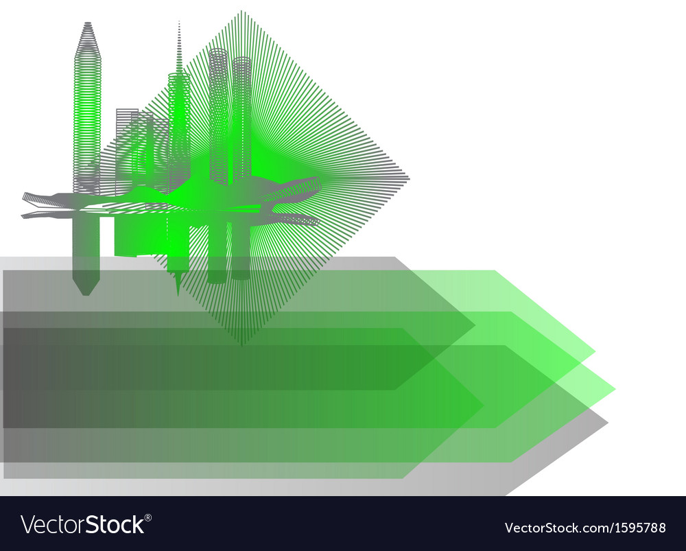Background with abstract city vector | Price: 1 Credit (USD $1)
