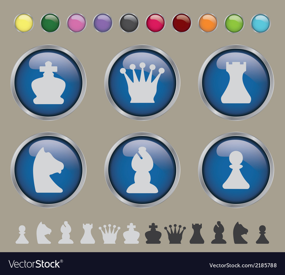 Button chess vector | Price: 1 Credit (USD $1)