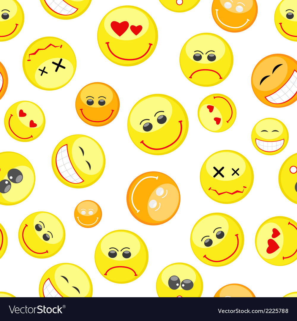 Colorful smiles seamless pattern vector | Price: 1 Credit (USD $1)
