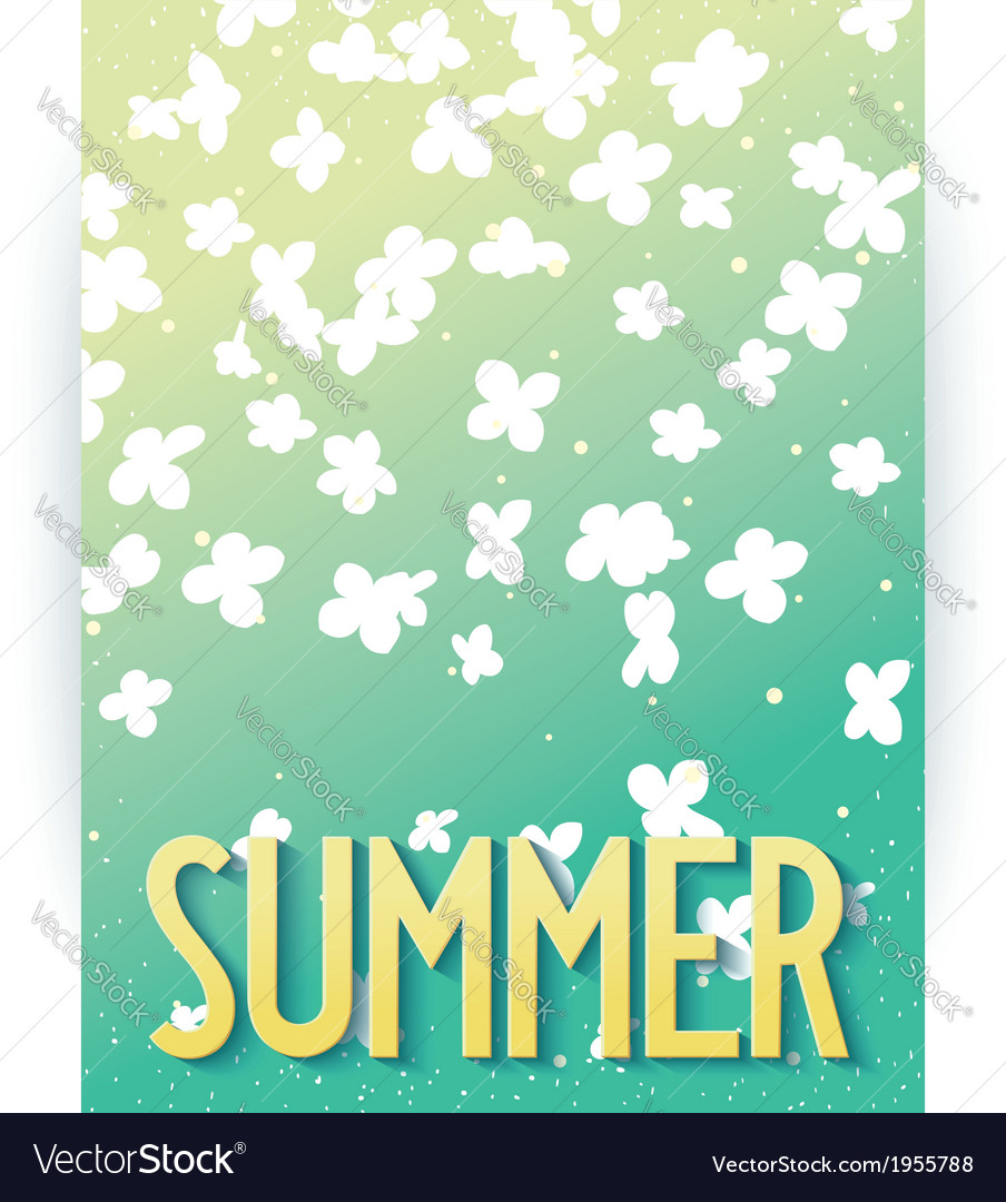 Hello summer abstract poster vector | Price: 1 Credit (USD $1)
