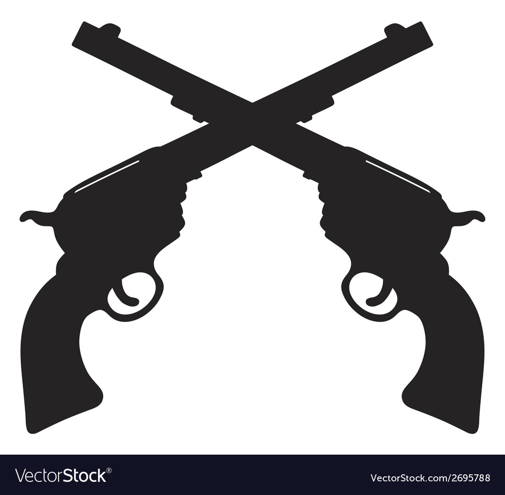 Old american handguns vector | Price: 1 Credit (USD $1)