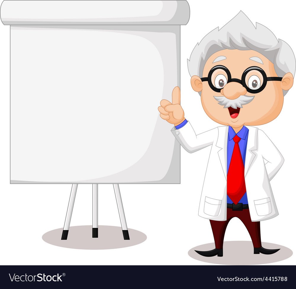 Professor teaching vector | Price: 1 Credit (USD $1)