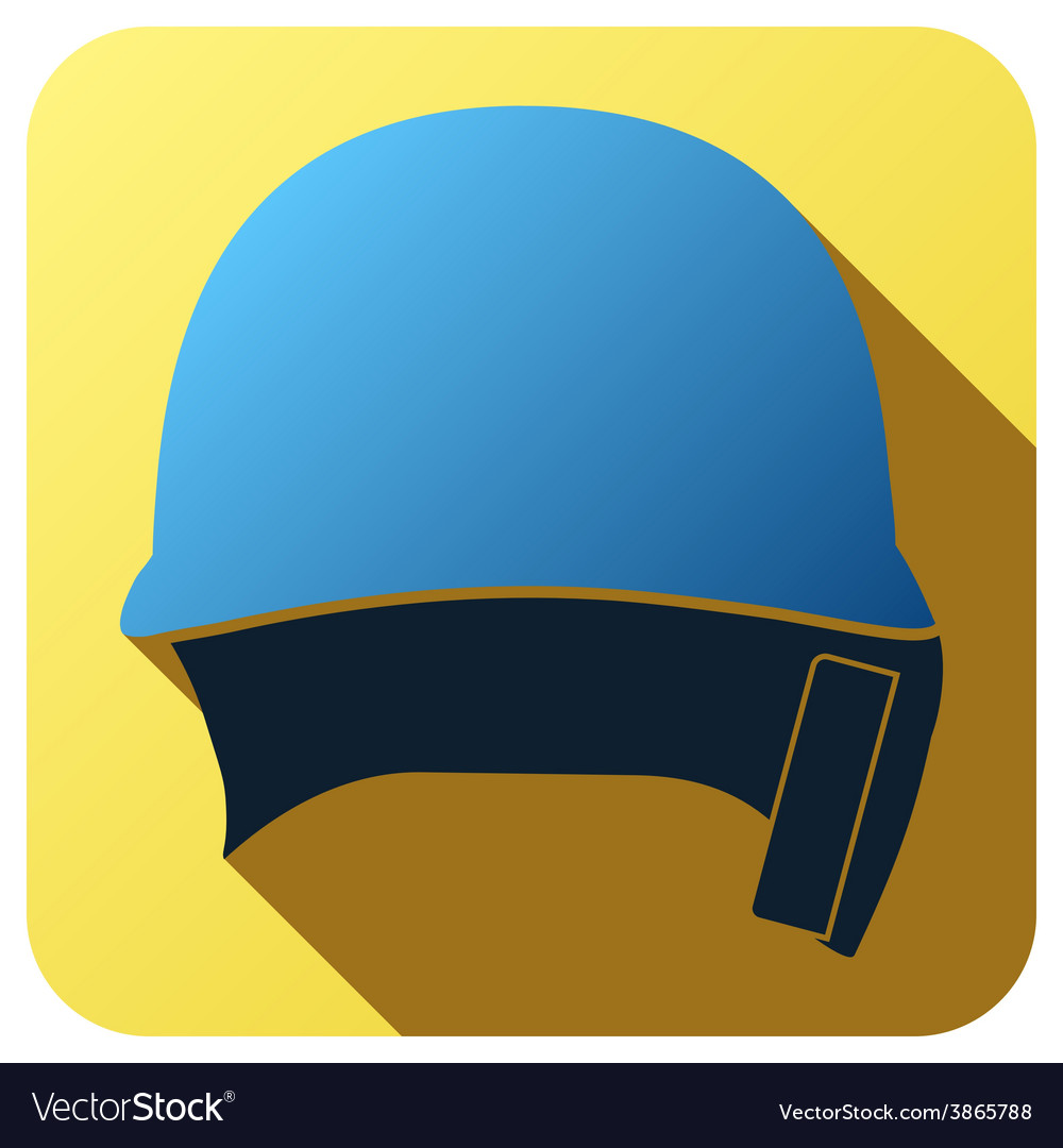 Sport icon with baseball helmet in flat style vector | Price: 1 Credit (USD $1)