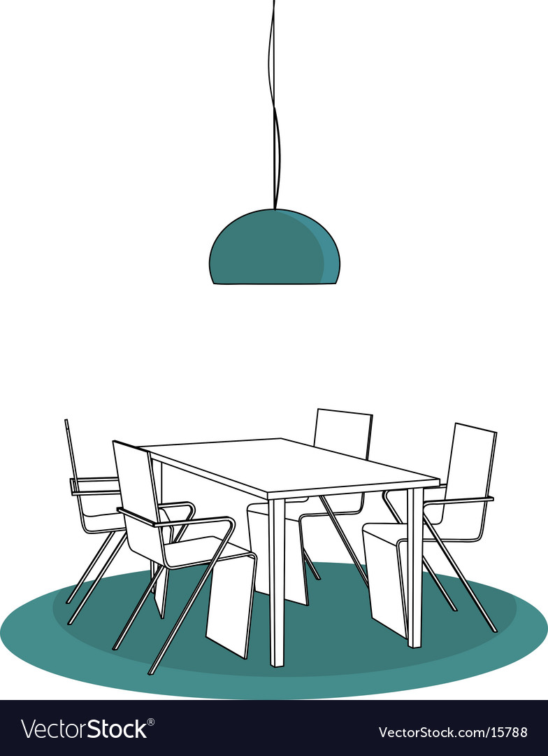 Table and chairs vector | Price: 1 Credit (USD $1)
