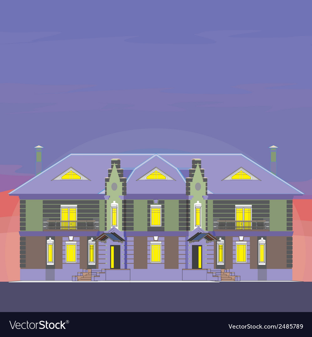 02 classical mansion v vector | Price: 1 Credit (USD $1)