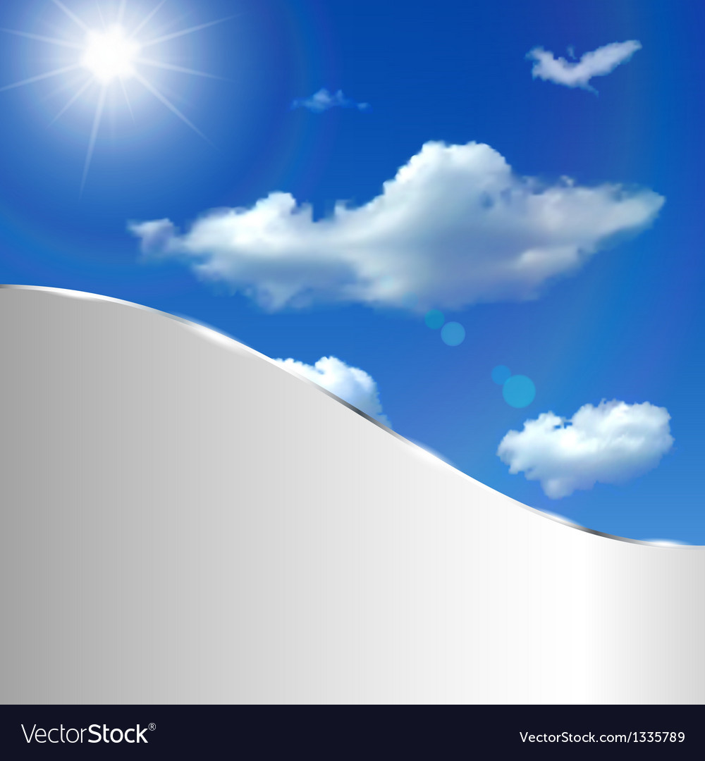 Abstract background with sky sun and clouds vector | Price: 1 Credit (USD $1)